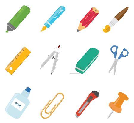 marker pen: Equipment icons. Vector set