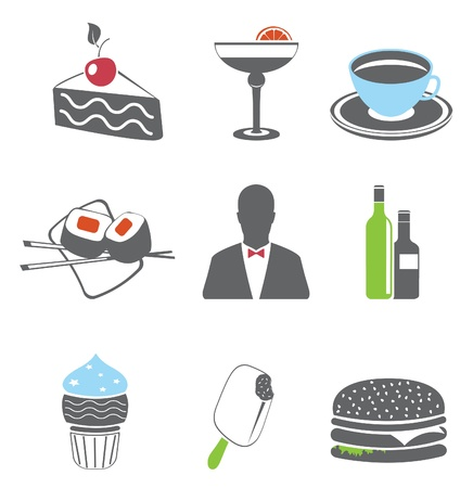 Restaurant. Foof icons. Vector set  Vector