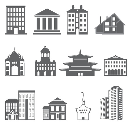 Buildings. Vector set  Stock Vector - 16617426