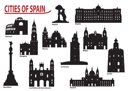 The most famous building in the city of Spain Vector