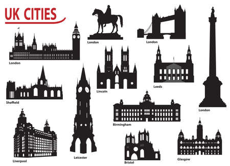 The most famous building in the city of Great Britain Vector