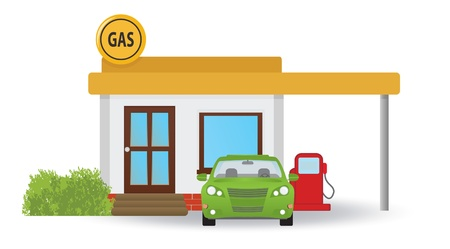 Gas station.  illustration Stock Vector - 17009643