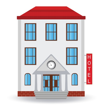 large house: Hotel icon.  illustration  Illustration