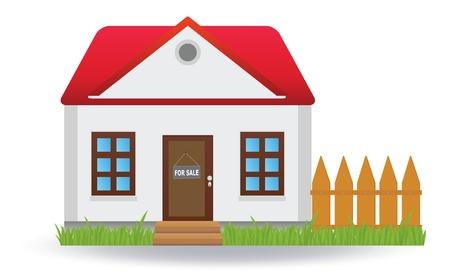 house for sale: House for sale.  illustration