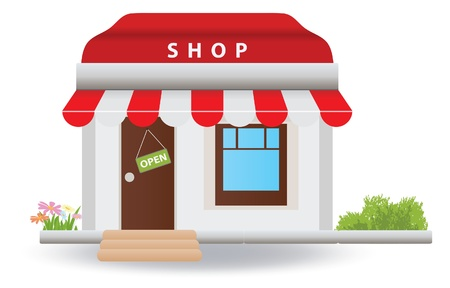 small house: Shop.  illustration Illustration
