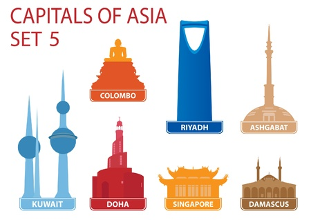 Capitals of Asia Stock Vector - 17256539