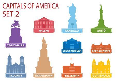 Capitals of America. Stock Vector - 17386141