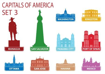 Capitals of America.  Stock Vector - 17386151