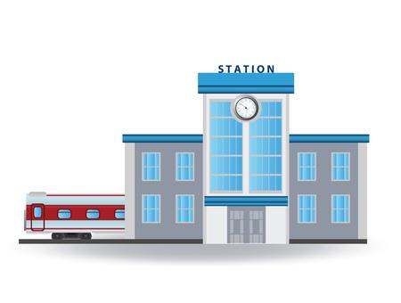 railroad station platform: Railway station