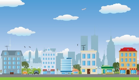 row of houses: The row of houses. Vector illustration