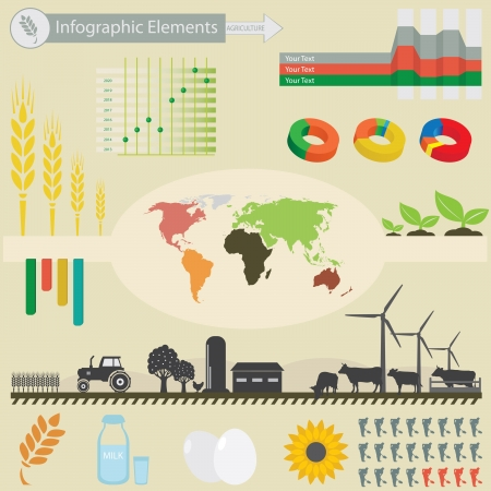 Infographic elements. Agriculture