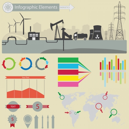 energetics: Infographic elements. Energetics Illustration