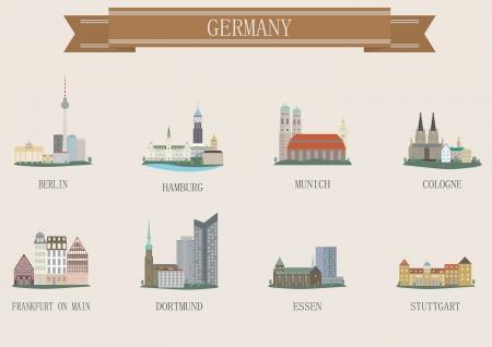 City symbol. Germany. Vector set Vector