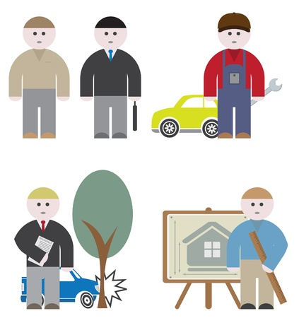 buisnessman: Workers. Vector set