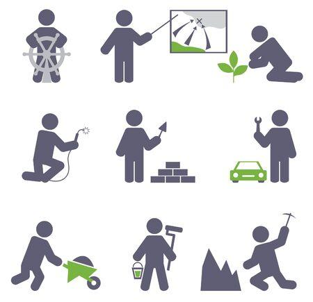 manual workers: Man at work