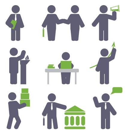 bank manager: Negocio conjunto de iconos