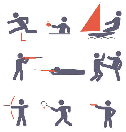 hurdle: Sport icons  Vector set