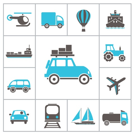 train icon: Transport icons. Vector set
