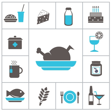 Food icons. Vector set Vector