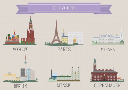remote view: City symbol. Europe