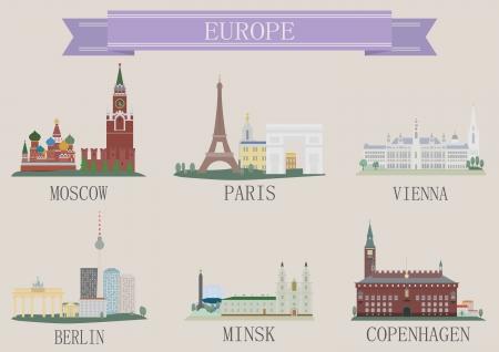 City symbol. Europe