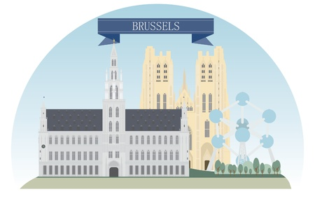 Brussels, Belgium Vector for you design