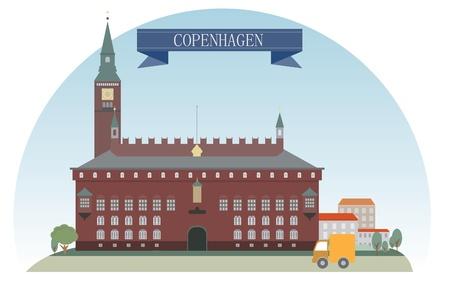 denmark: Copenhagen, Denmark  Vector for you design