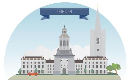 dublin ireland: Dublin, Ireland  Vector for you design Illustration