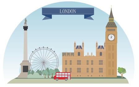 london cityscape: London, United Kingdom  Vector for you design Illustration