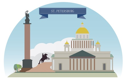 st petersburg: St  Petersburg, Russia  For you design Illustration