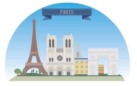 Paris, France  For you design  イラスト・ベクター素材
