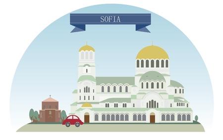 bulgaria: Sofia, Bulgaria  Vector illustration for you design