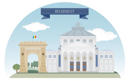 Romania, Bucharest   Vector
