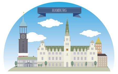 Hamburg, Germany   Stock Vector - 21075114
