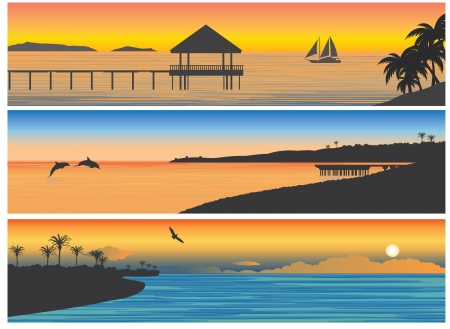 tranquil scene: Tropic island  For you design Illustration