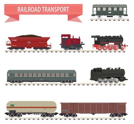 Los trenes del ferrocarril de conjunto para que el diseño