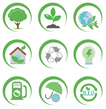 Eco icons  Set for you design Vector