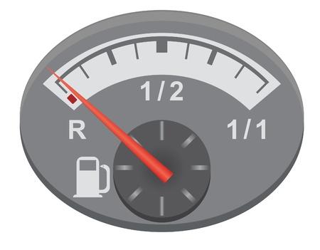 gas gauge: Car Fuel  Vector for you design Illustration