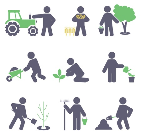 work environment: Agriculture  Set icons for you design