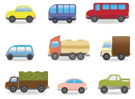 hatchback: Cars  Vector set for you design Illustration