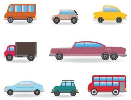 mini bus: Cars  Vector set for you design Illustration