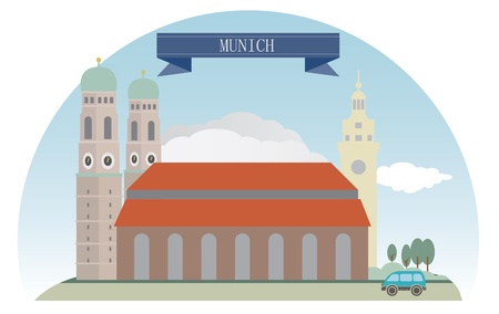 Munich, Germany  For you design Vector