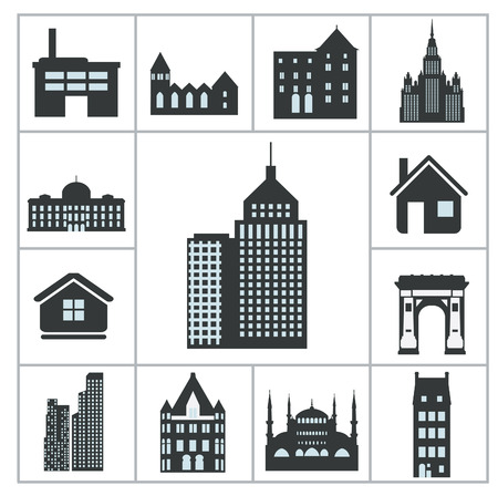 architectural styles: Buildings Icons