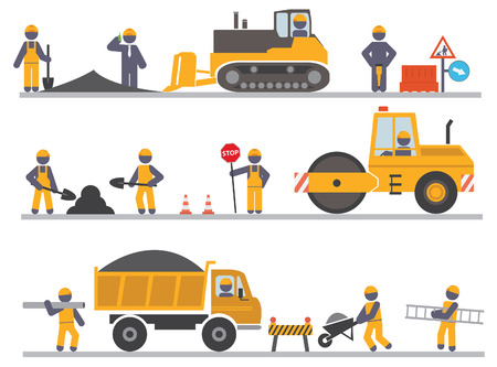 Construction workers  Vector for you design  イラスト・ベクター素材