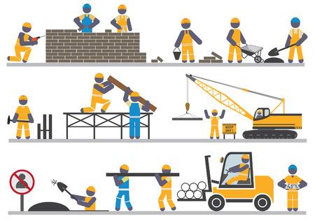 Bauarbeiter bei der arbeit comic  Bauarbeiter Lizenzfreie Vektorgrafiken Kaufen: 123RF