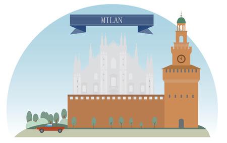 Milan, Italy  For you design Vector