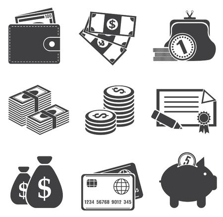 coin stack: Money  Vector set for you design