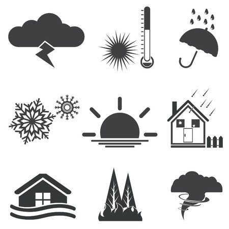 typhoon: Weather  Vector set for you design