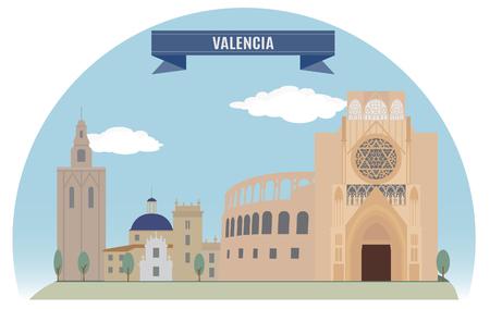 valencia: Valencia, Spain  For you design Illustration