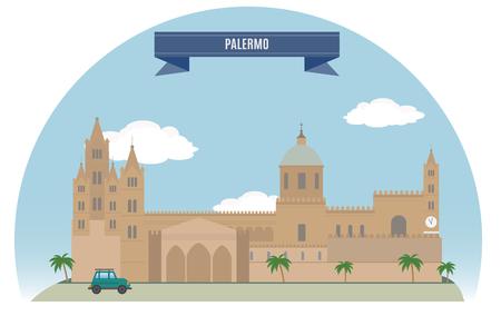 palermo italy: Palermo, Italy Illustration